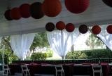 Fall Theme Wedding Set Up