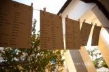 Rustic Clothesline Seating Cards - Recycled Paper, Twine and Clothespins made a cute seating card display instead of individual cards